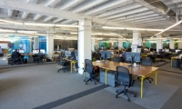 The space had to be flexible to meet the needs of growing businesses, so Gensler designed a shell that can be reconfigured as required.