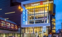 Target Center in Minneapolis is home to basketball teams the Minnesota Timberwolves and Minnesota Lynx.