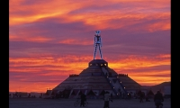 Burning Man started in 1986 when two artists built an 8-foot-tall effigy and burned it on Bakers Beach in San Francisco. It has grown to a following of more than 50,000 in the Black Rock Desert of Nevada. (Photo: George Post © 2012.