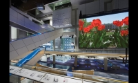 The Newseum's soaring 90-ft. atrium reflects the transparency afforded by a free press and allows clear sight lines into many of the galleries and exhibits.