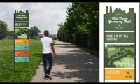 A modular wayfinding system for the Mill Creek Greenway Trail and part of the Greater Ohio Scenic Trail System proposal.  Designs by Chi Thorsen and Aly Yorio.