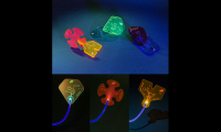 Figure 10. Book Buds are acrylic pieces that can transmit light through fiber optic cables