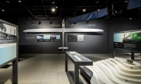 The Innovation Gallery celebrates the tireless pursuit of Airbus Group using both analog and digital installations.