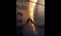 Schwartz and Isley wanted to make the names as large as possible. At a cap height of 3.6 in., the names may be the largest found on a civilian memorial. Isley chose ITC Bodoni 12 for its powerful verticals and rounded serifs. (Photo: © David Sundberg/Esto)