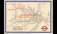 London Underground Map (1933). Harry Beck's map reinterpreted below-ground reality for better understanding above ground. It was the original on which today's ubiquitous sleek urban rail system maps are modeled. (Photo: Transport for London)