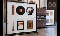 """Pentagram's identity formed the number """"100"""" from objects in the library's collections."""