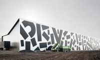 The shapes were cut from a 3M Graphic Film and installed by Eicher-Werkstätten.