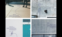 Continuous line acts as intuitive wayfinding, integrated into the environment.