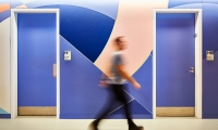 Each work covered a wall span of over 25 meters and was visible from various spots within the workplace.