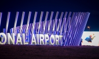 Denver International Airport Welcome Sign