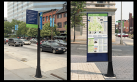 City pedestrian sign system for Downtown Baltimore, Baltimore, MD (Two Twelve)