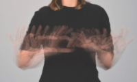 "To create ""Connect,"" each of the 40 hand movements used to sign the word were individually photographed and composited into a single image inspired by of the work of pioneering photographer Eadweard Muybridge."