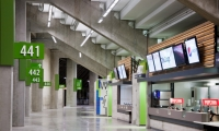 The BC Place Vancouver Olympics wayfinding was designed by Stantec and fabricated by SH Immersive Environments.