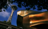 The Seattle Center campus includes the Space Needle, Experience Music Project. (Photo: Tim Thompson)