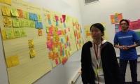Participants ideate in focused, intensive sessions, then share ideas to gather feedback.