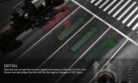 show the detail (image: LED lane arrows embedded into street)