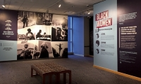 Black Women: Image & Perception in Popular Culture, photo wall and title wall