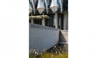 C&G created all of the embassy's exterior and interior signage. The identification sign was coordinated directly with the granite wall and fountain.