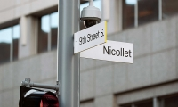 Nicollet (image: bright yellow-edged wayfinding signs)