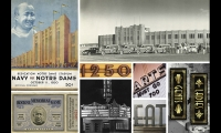 Visioning graphics from the 1930s Knute Rockne era. Our concepts were highly influenced by this 'deco' style of architecture and design. (image: vintage signs composite)