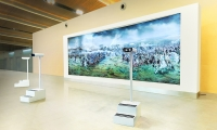 Rostov-on-Don Platov International Airport (image: interactive allows visitors to look through a viewfinder at a moving painting)