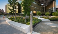 Cornell Tech (image: stainless steel wayfinding totem)