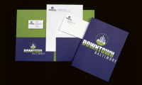 Identity program for the Downtown Partnership of Baltimore, Baltimore, MD (Two Twelve)