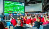 The Mercedes-Benz Stadium experience was designed with the fan in mind. Dimensional Innovations was hired to manage and implement all sponsorship activity within the stadium and leverage those sponsorships to create an incredible game-day and event.