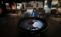 Gagarin produced a suite of interactives that help tell the story of the historic eruption.