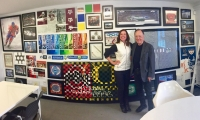 Amy Lukas with Lance Wyman during Salt Lake City Design Week, October 2017