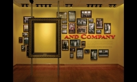 "Heritage displays emphasize the ""and Company"" part of Eli Lilly's name. To visualize their place on the Lilly team, visitors place themselves inside the picture frame."