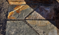 From panels to pavers, graphic elements are consistently applied throughout the site.