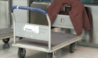 Fig. 8. Design of the airport baggage cart acknowledges incidental uses and people priorities.