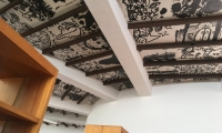 Bibiloteca Infantil: This library provides a lot of programming for children and the whole community. The ceiling is papered with children's drawings.