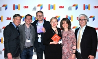 Design Studio H2E receiving their awards at the 2016 SEGD Conference Experience Seattle.