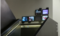 The digital interventions were placed in key circulation spots, including stairways.