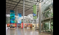 At the time it opened, it was the largest LEED-Platinum public building in the world.