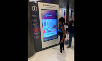 Kiosk with touch screen