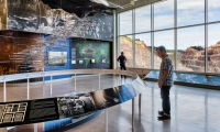 THE WORLD BELOW is the centerpiece display of the Sanford Lab Homestake Visitor Center