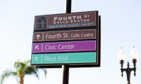 After undergoing a significant regeneration effort, Santa Ana's City Redevelopment Agency wanted to improve the city's wayfinding system.