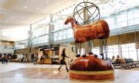 Calgary Airport Themeworks: Drum Dancer, Joane Cardinal-Schubert