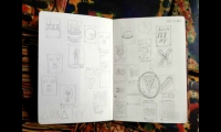 For AIGA New York's 30th anniversary poster, I sketched about 20 loose concepts.