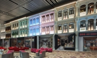 Project: Singapore Changi Airport Terminal 4 | Designed by NanoLumens and Moment Factory, fabricated by NanoLumens, installed by E and E, photos by Changi Airport Group