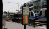 The impetus for the system was the opening of a new light-rail line. Commuters and tourists arriving in Charlotte's Uptown need orientation and direction to new cultural destinations and new routes to work.