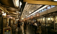 Chelsea Market is an indoor market and urban food court in an historic factory building.
