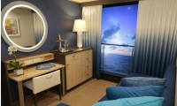 On Royal Caribbean's Quantum of the Seas cruise ship, even travelers with interior cabins get a balcony view. Control Group used cinematic cameras on the ship's stem and stern to deliver real-time views to the cabins via digital windows.