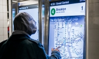 In New York City, 90 new touchscreen subway station kiosks allow riders to access information specific to their routes, including transfers and delays.