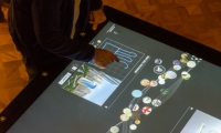 Nine interactive touchscreen tables engage visitors in Cooper Hewitt's collections.