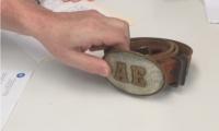 Interviewee's Father's Belt Buckle, photo: Brenda Cowan