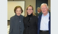 Working with President Jimmy Carter and First Lady Rosalynn Carter on the renovation of their Presidential Library